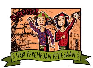 Hari Perempuan Pedesaan (merah)